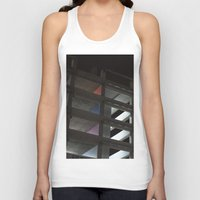 grid Tank Tops featuring grid by jared smith