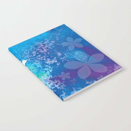 Watercolor Flowers Notebook
