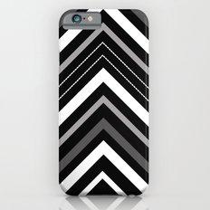 Black and white Chevron iPhone 6s Slim Case