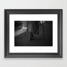 On foot Framed Art Print