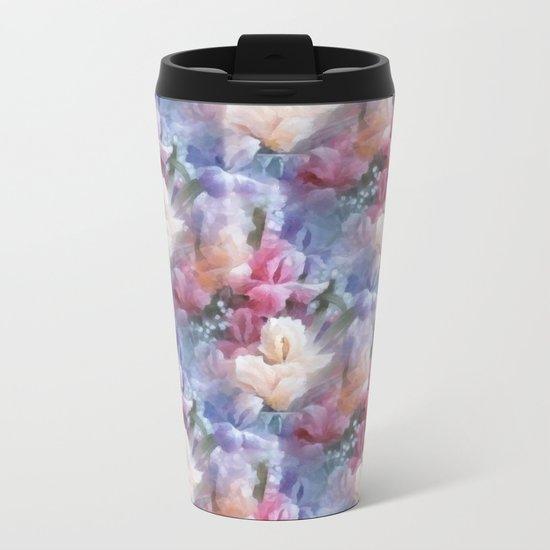 Sweet watercolor irises Metal Travel Mug