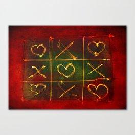 Tic Tac Love Canvas Print
