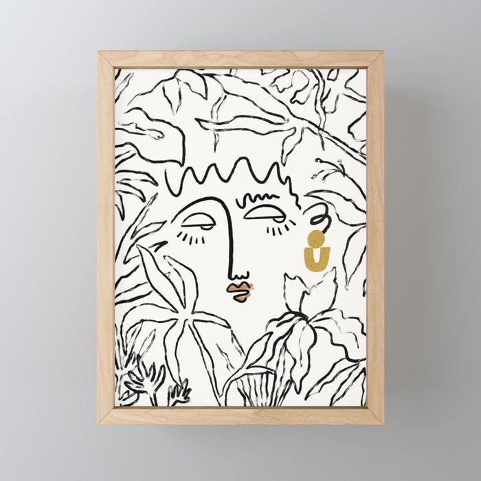 In The Jungle Framed Mini Art Print