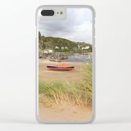 Barmouth Boats Clear iPhone Case