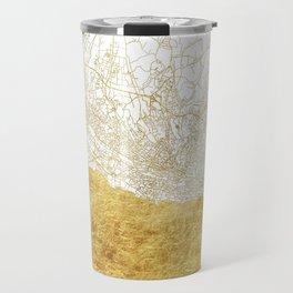 Lausanne Map Gold Travel Mug