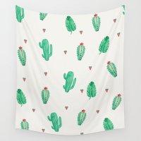 cactus Wall Tapestries featuring CACTUS by Ceren Aksu Dikenci