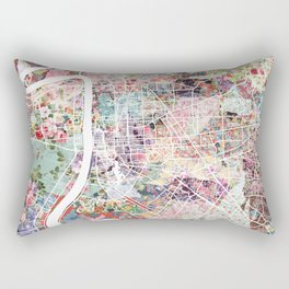 Baton Rouge map Rectangular Pillow