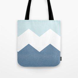 BLUE BLOCK CHEVRON Tote Bag