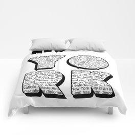 New York in writing Comforters
