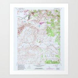 CA Carbondale 100478 1968 24000 geo Art Print
