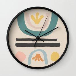 flower field Wall Clock