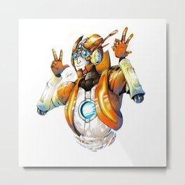 Raise the Roof Rung Metal Print