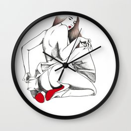 Red Bottoms Wall Clock