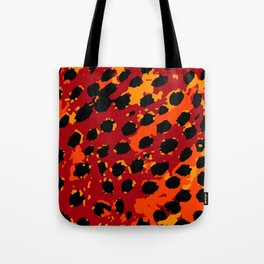 Cheetah Spots in Red, Orange and Yellow Tote Bag