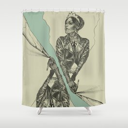Queen of Carbon II Shower Curtain