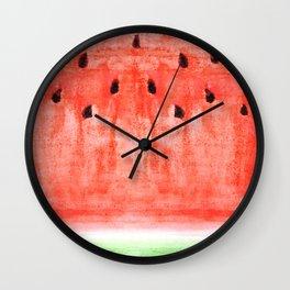 watermelon / watercolor Wall Clock