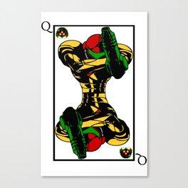 samus playing card queen Canvas Print