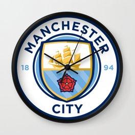 Manchester City Logo Wall Clock
