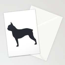 boston terrier silhouette Stationery Cards
