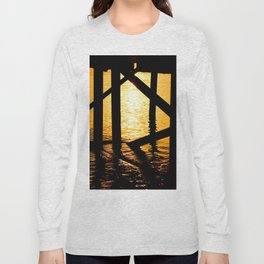 Dock Supports at sunrise Long Sleeve T-shirt