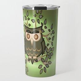 The Wise Old Owl .. fantasy bird Travel Mug