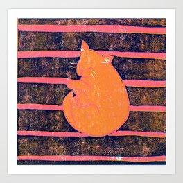 Mikan Cat Art Print