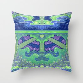 Dream of the fullmoon (mirrored version) Throw Pillow