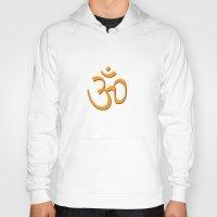 hindu Hoodies featuring Hindu om by gbcimages
