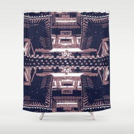 The Buddhist Temple Shower Curtain