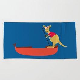 Kangaroo on Gondola Beach Towel