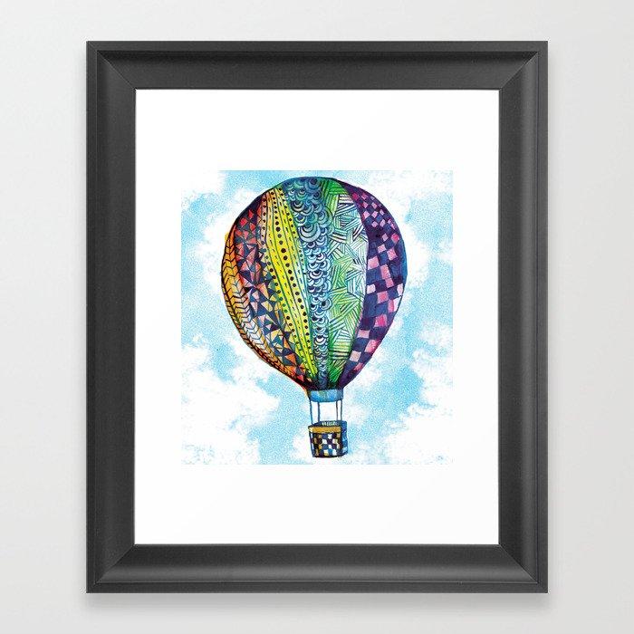 Hot Air Balloon Gerahmter Kunstdruck