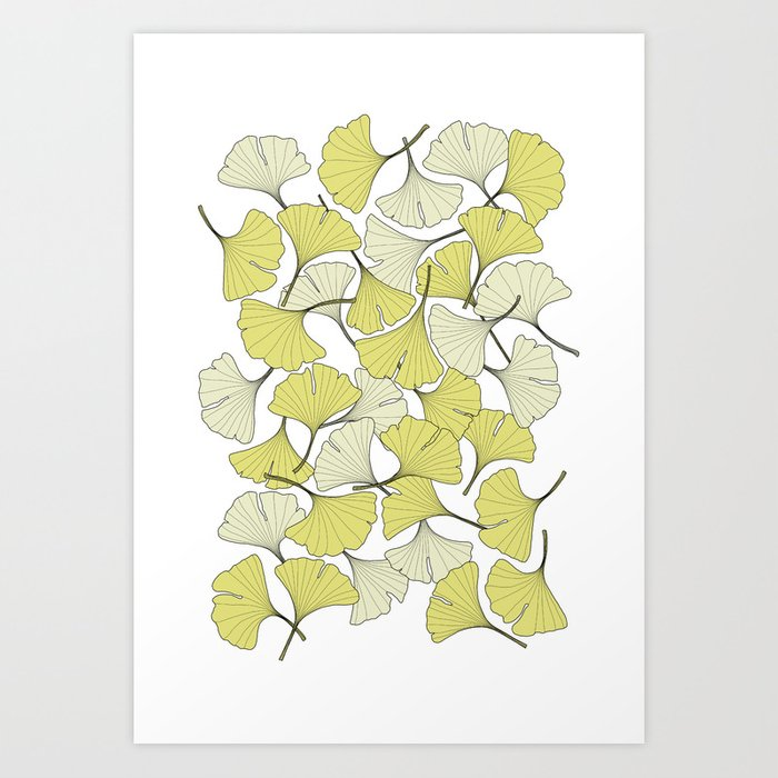 ginkgo leaves (special edition) Art Print
