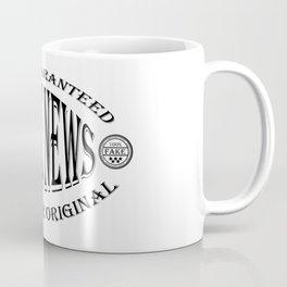 Fake News badge (black on white) Coffee Mug