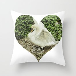 Mother Swan V Throw Pillow