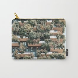 Bosco Verticale, Vertical Forest, Modern Sustainable Architecture, Residential Towers In Milan, Trees, Shrubs, Floral Plants Carry-All Pouch