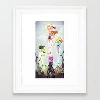 powerpuff girls Framed Art Prints featuring Powerpuff Girls by animatorlu