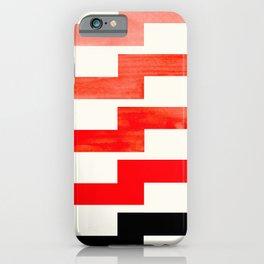 Mid-century Modern Minimalist Geometric Watercolor Gouache Lightning Bolt iPhone Case