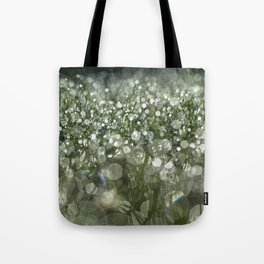 bokeh grass Tote Bag