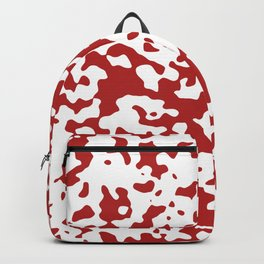 Spots - White and Firebrick Red Backpack