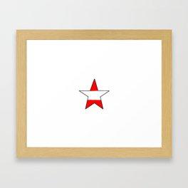 flag of austria 6 -Österreich,Austrian,Österreicher,Vienna,Salzburg,Mozart, Schoenberg Framed Art Print