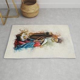Joseph Mary and Jesus Rug