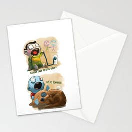 Zombies like to bite stuff too. Stationery Cards