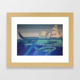 Journey of the Whales Framed Art Print