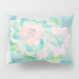 Flowers In Blue Background Pillow Sham