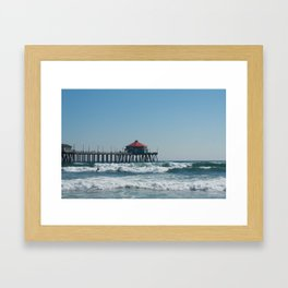 Huntington Beach Life Framed Art Print