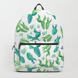 Beautiful watercolour cactus print Backpack
