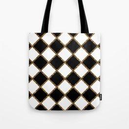 Geometric ornament gold seamless pattern Tote Bag