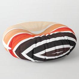 Brown Minimalist Watercolor Mid Century Staggered Stripes Rothko Color Block Geometric Art Floor Pillow