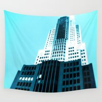 comic book Wall Tapestries featuring Comic Book Chicago by A/B Photography