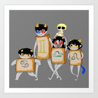 homestuck Art Prints featuring Homestuck: The Boxtrolls by Techno Cide